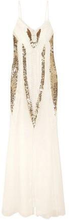 Temperley London Moondrop Sequined Corded Chiffon Maxi Dress