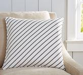 Pottery Barn Beckett Diagonal Stripe Pillow Cover