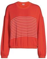 Thumbnail for your product : Sundry Stripe Blouson Sweatshirt