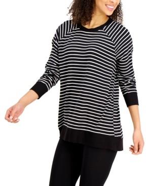 Alfani Striped Pajama Top, Created for Macy's