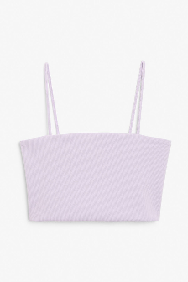 Thumbnail for your product : Monki Spaghetti strap crop top