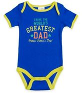"Baby Gear babygearTM ""I Have The World's Greatest Dad-Happy Father's Day"" Bodysuit in Royal Blue"