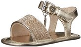 Stuart Weitzman Baby Nudist Shimmer Infant Strap Sandal (Infant/Toddler)
