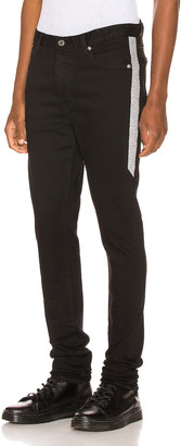 Keiser Clark Racer Jean in Black & Silver | FWRD