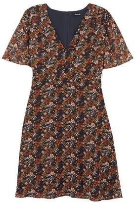 Madewell Floral-print Chiffon Mini Dress