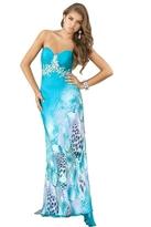 Blush Lingerie Strapless Multi Color Long Dress 9330