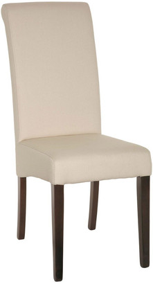 OKA Echo High-Back Dining Chair, Dark Wood Legs