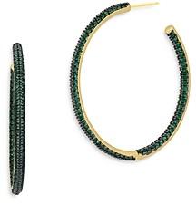 Freida Rothman Inside Out Pave Hoop Earrings