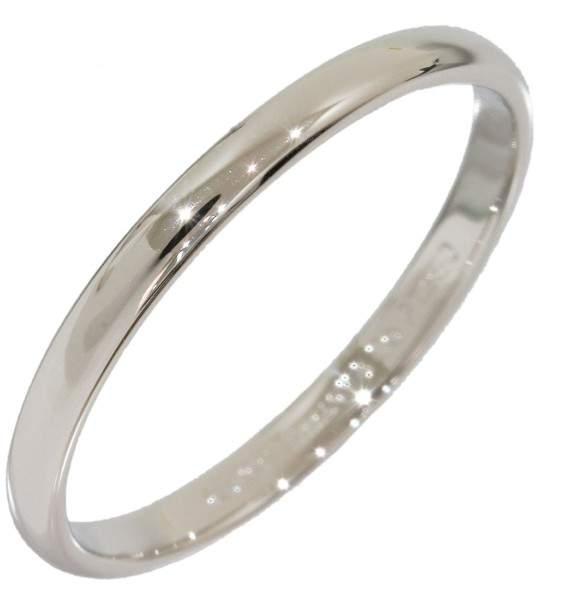 Tiffany & Co. Platinum Simple Wedding Band Ring Size 7.25