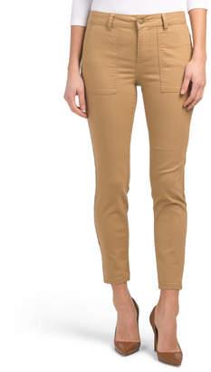 High Waist Colored Utility Jeans