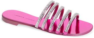 Giuseppe Zanotti Crystal Embellished Strappy Slide Sandal