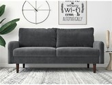 "Everly Devaney Velvet 71.6"" Round Arms Sofa Quinn Upholstery Color: Gray"