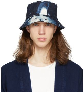 Blue Blue Japan Blue Kago Bassen Bucket Hat