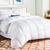 LINENSPA Oversized King Down Alternative Quilted Comforter with Corner Duvet Tabs - White