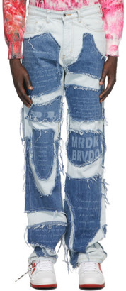Who Decides War by MRDR BRVDO Blue Infusion Jeans