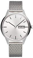 Uniform Wares C40bsi01milbsi1818r01 C40 Day Date Bracelet Strap Watch, Silver