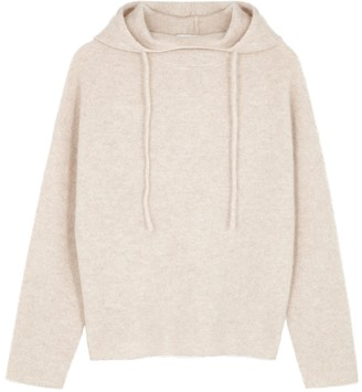 Vince Oatmeal hooded cashmere jumper