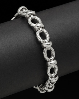 Italian Silver Twisted Oval Link Bracelet