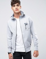 Firetrap Zip Through Hooded Sweat