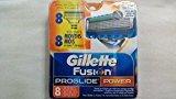 Gillette 8 Fusion Proglide POWER Razor Blades NEW 8 PACK 100% AUTHENTIC, GENUINE