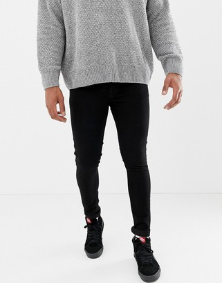 ONLY & SONS super skinny fit jeans in black