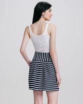 Nanette Lepore Ka Pow! Pleated Striped Skirt