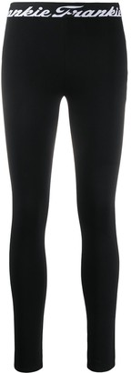 Frankie Morello Logo Print Leggings