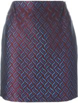 Golden Goose Deluxe Brand jacquard mini skirt - women - Cotton/Linen/Flax/Polyamide/Viscose - M