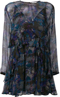 IRO Abstract Print Sheer Dress