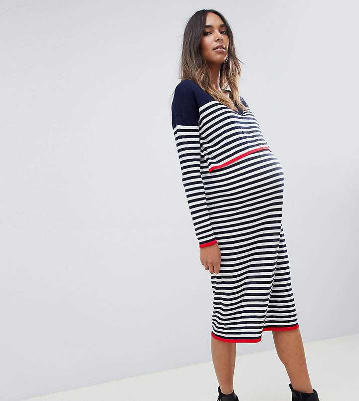 2ce4d5a9652 Asos Stripe Maternity Dress - ShopStyle