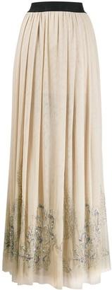 John Richmond Sequin-Embellished Maxi Skirt