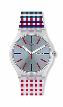 Swatch Men's Quartz Watch with Silicone Strap Multicolour 22 (Model: SUOW709)