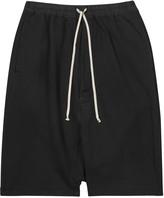 Rick Owens Drkshdw Black Dropped-crotch Cotton Shorts