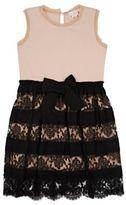 Lanvin LACE & JERSEY DRESS-PINK SIZE NA