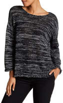 Joie Persis Linen Blend Frayed Trim Sweater