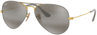 Ray-Ban Metal Mirrored Aviator Sunglasses
