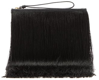 Hillier Bartley Fringed Full-grain Leather Pouch - Black