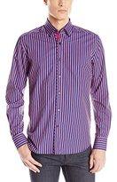 Stone Rose Men's Bold Stripe Long Sleeve Button Down Shirt
