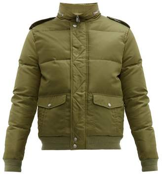Saint Laurent Packable Hood Quilted Down Jacket - Womens - Green
