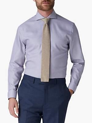 Jaeger Micro Houndstooth Regular Fit Shirt, Rust