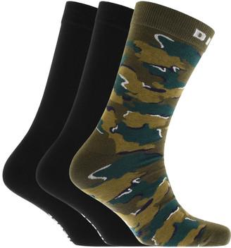Diesel RAY Three Pack Socks Green
