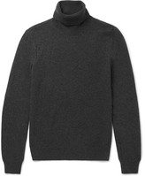 Saint Laurent Distressed Wool and Cashmere-Blend Rollneck Sweater