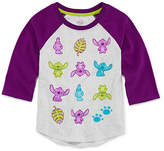 Disney 3/4 Sleeve Round Neck Lilo & Stitch T-Shirt-Big Kid Girls