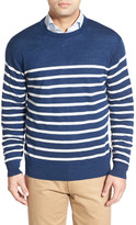 Peter Millar Stripe Crew Neck Sweater