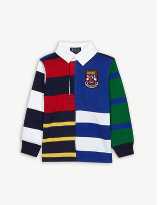 Ralph Lauren Crest logo striped cotton rugby shirt S-XL
