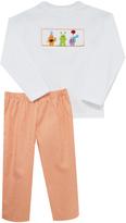 Orange Monster Smocked Tee & Pants - Infant