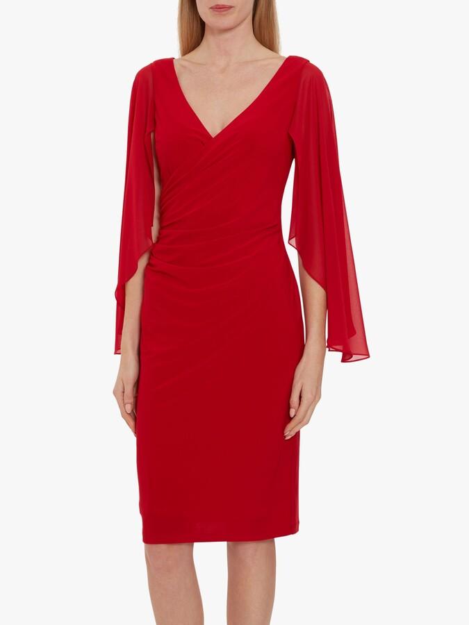 Thumbnail for your product : Gina Bacconi Idina Jersey Waterfall Sleeve Dress