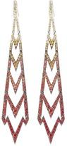 Stephen Webster Sapphire 18k white gold long drop earrings