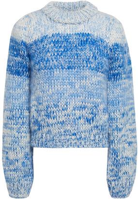Ganni Julliard Degrade Mohair And Wool-blend Sweater