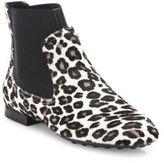 Tod's New Beatle Leopard-Print Calf Hair Booties